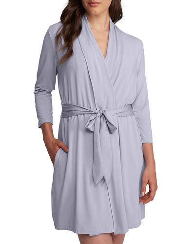 Iconic Solid Jersey Robe