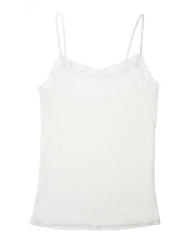 Soft Silks Lace-Trim Camisole