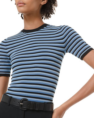 Michael Kors Collection Striped Ringer-Style Bodysuit