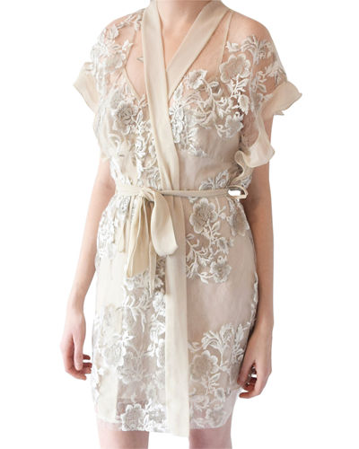 Charming Floral Coverup Robe