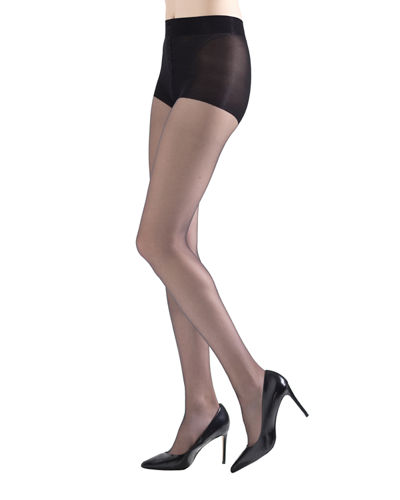 2-Pack Exceptionally Sheer Control-Top Tights w/ Sole Cushion