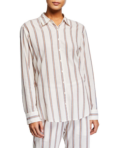 Xirena Beau Striped Lounge Shirt