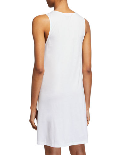 Sea Island Lace-Inset Nightgown