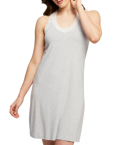 Lace-Trim Racerback Nightshirt