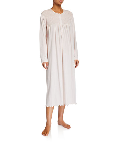 Trellis Long-Sleeve Nightgown