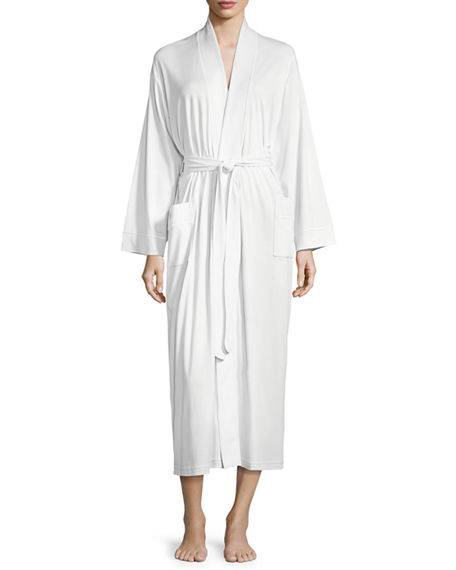 P Jamas Butterknit Long Wrap Robe