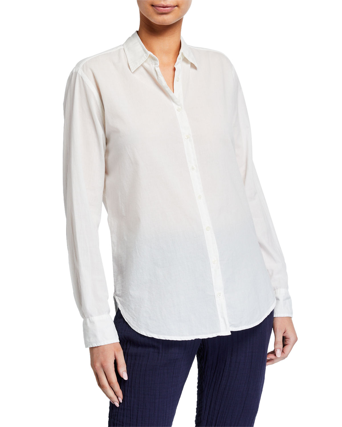 Xirena Beau Long-Sleeve Solid Lounge Shirt