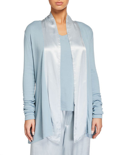 Shelby Swing Lounge Jacket with Silk Collar