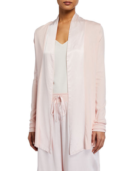 PJ Harlow Shelby Swing Lounge Jacket with Silk Collar