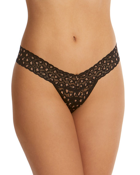 Hanky Panky Cross-Dyed Low-Rise Leopard Thong