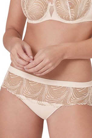 Simone Perele Nuance Embroidered Cheeky Seamless Boyshorts