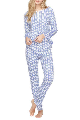 Roller Rabbit Hathi Animal Print Pajama Set