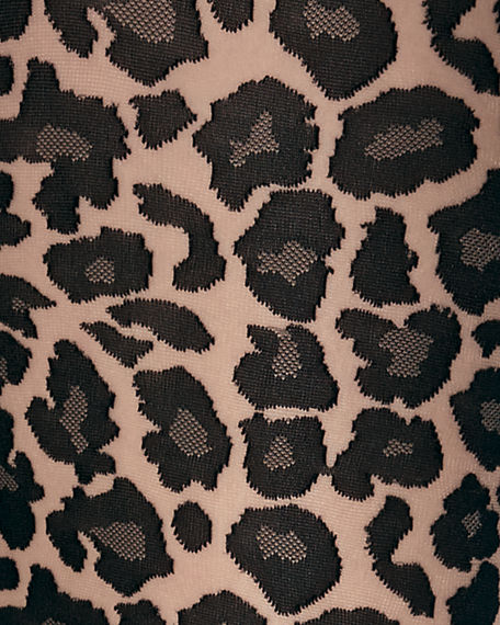 Image 2 of 2: Wolford Leo Leopard-Pattern Tights
