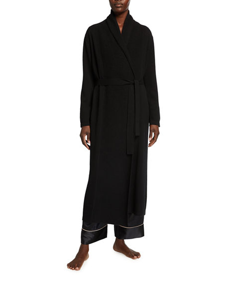 Neiman Marcus Cashmere Collection Cashmere Shawl Collar Long Robe
