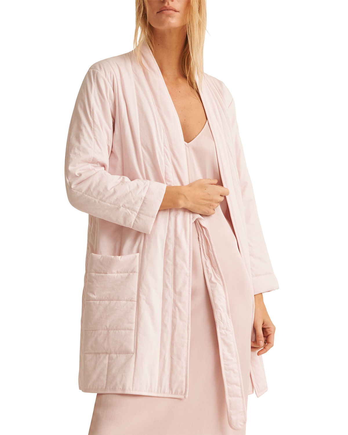 Skin Cottons STORME SHORT QUILTED JERSEY ROBE