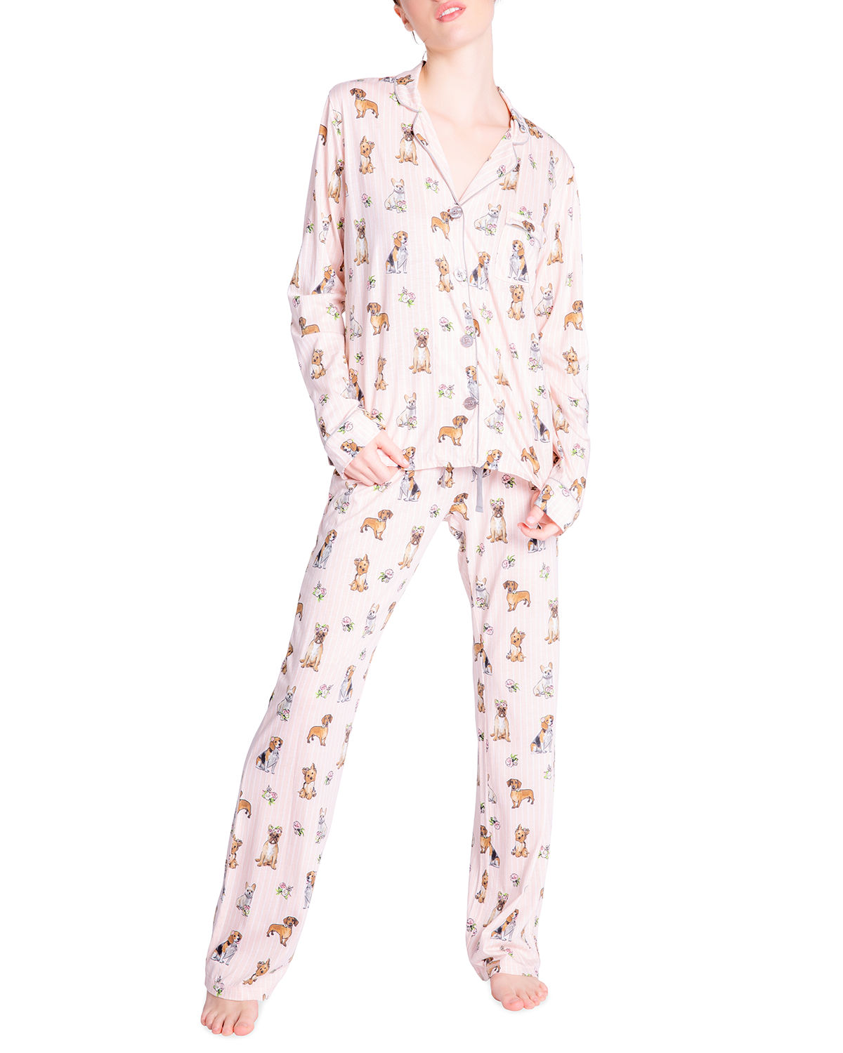 Pj Salvage NOVELTY-PRINT JERSEY PAJAMA SET