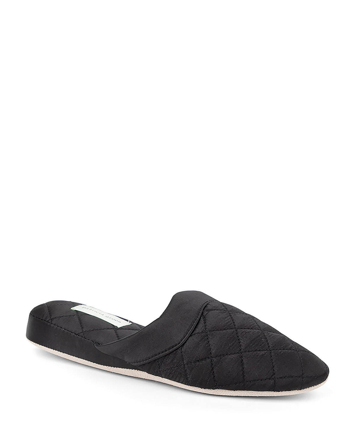 Jackie Quilted Satin Slippers