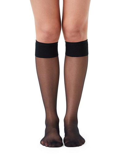 Sheer Hi-Knee Stockings
