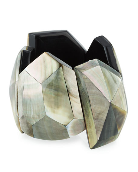 Image 1 of 3: Viktoria Hayman Star Dust Faceted Cuff Bracelet