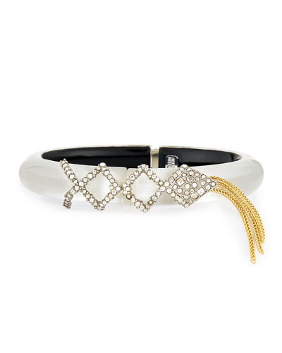 Alexis Bittar Crystal Lattice Fringe Bracelet
