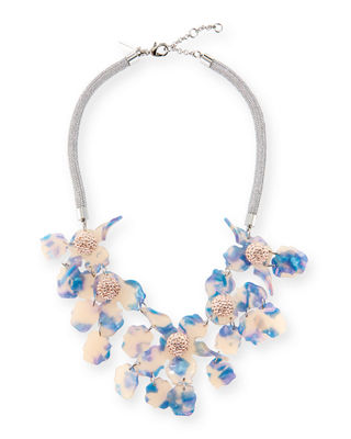 Sculptural Lily Crystal Statement Necklace