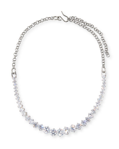 Fallon Monarch Graduated Crystal Choker Necklace