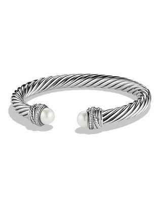 David Yurman 7mm Diamond Crossover Bracelet