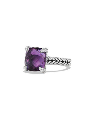 David Yurman 11mm Châtelaine Ring w/Diamond Prongs