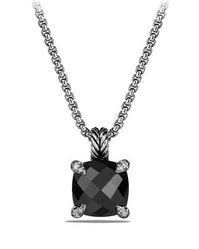 David Yurman 11mm Châtelaine Hampton Blue Topaz Pendant