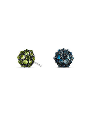 Image 1 of 2: 10mm Osetra Rhodolite Garnet Stud Earrings