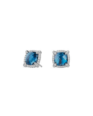 David Yurman 9mm Ch??telaine?? Stud Earrings with Diamonds