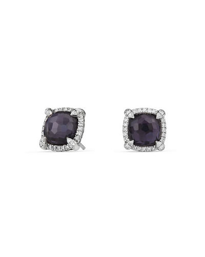 9mm Châtelaine® Stud Earrings with Diamonds