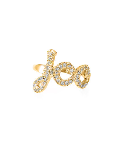 14K Gold Monogram Ring with Diamonds