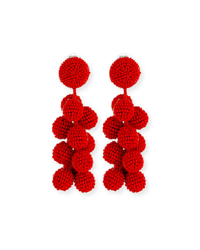 Sachin & Babi Coconut Beaded Dangle Earrings