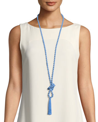 Ariel Shantung Viscose Tassel Necklace