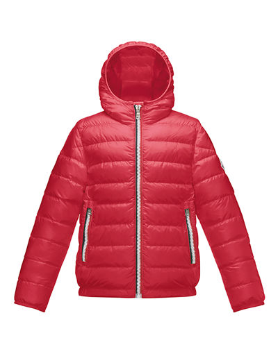 Moncler Athenes Hooded Down Jacket, Size 4-6