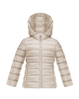 Image 1 of 2: Iraida Hooded Lightweight Down Puffer Jacket, Size 8-14