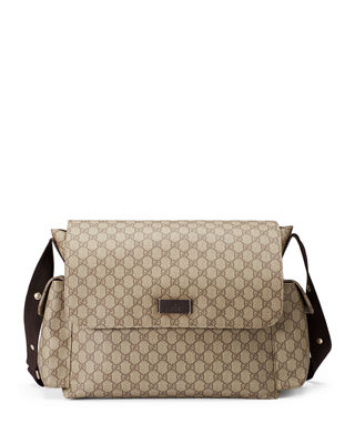 Image 1 of 4: Guccissima Faux-Leather Diaper Bag w/ Changing Pad