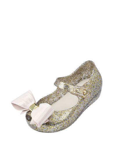 Mini Melissa Glittered Mary Jane Flat, Toddler