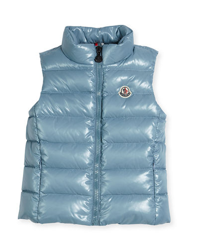 Ghany Quilted Down Vest, Size 4-6