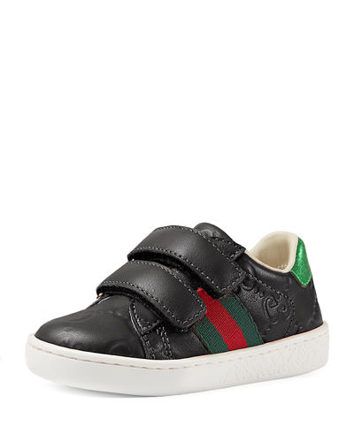 GG Supreme Leather Sneaker, Toddler