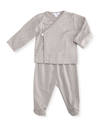 Kissy Kissy Starry Night Printed Footed Pajama Set,