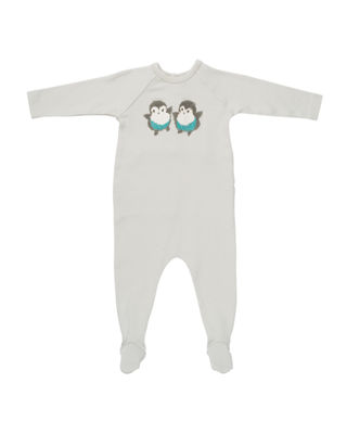 Bonpoint Bird Graphic Footie Pajamas, Size 1-6 Months