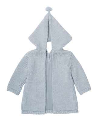 Image 2 of 2: Zip-Back Knit Jacket, Size 3 Months-2T