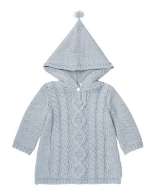 Bonpoint Zip-Back Knit Jacket, Size 3 Months-2T