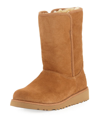 Alexey II Sheepskin Stitched Boot, Kid Sizes 13T-6Y