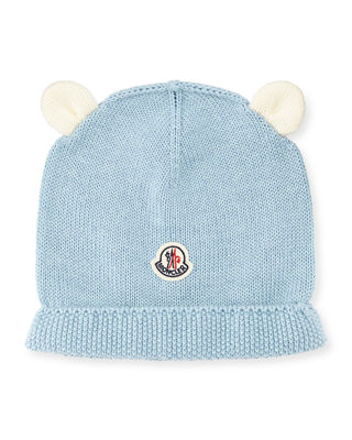 Moncler Berretto Animal Ears Knit Beanie Hat, Infant