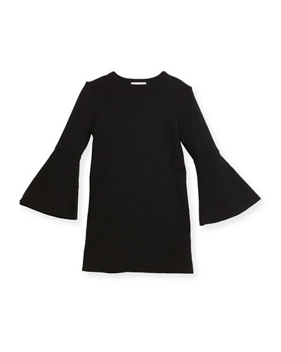 Milly Minis Bell-Sleeve Shift Dress, Size 8-14 and