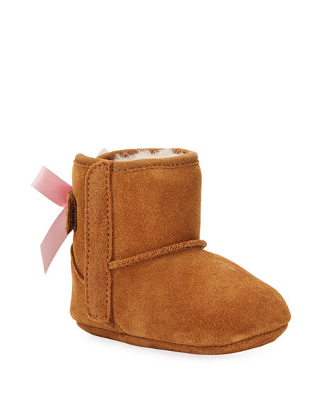 Image 1 of 4: UGG Jesse Bow II Suede Bootie, Infant Sizes 0-12 Months