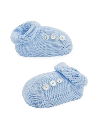 Basic Cotton Bootie w/ Buttons, Infant